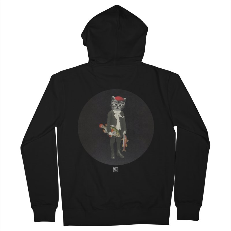 Fishstealer Men's French Terry Zip-Up Hoody by sigmablade collage