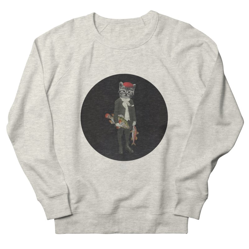Fishstealer Women's French Terry Sweatshirt by sigmablade collage