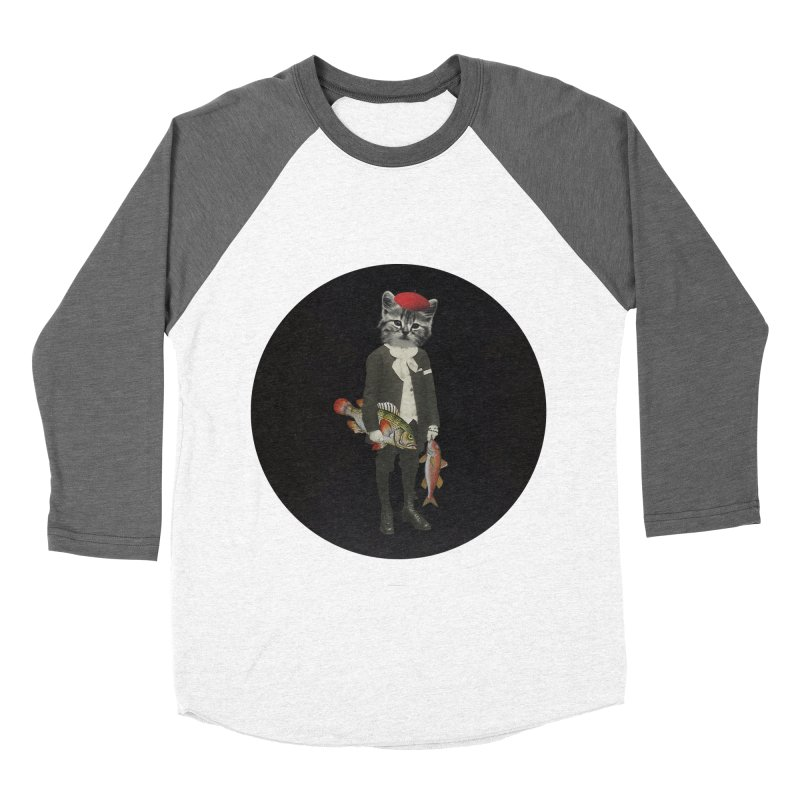 Fishstealer Women's Baseball Triblend Longsleeve T-Shirt by sigmablade collage