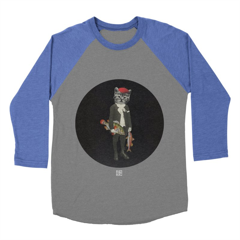 Fishstealer Men's Baseball Triblend Longsleeve T-Shirt by sigmablade collage