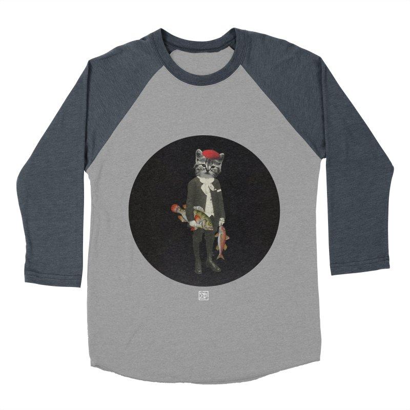 Fishstealer Men's Baseball Triblend Longsleeve T-Shirt by sigmablade collage