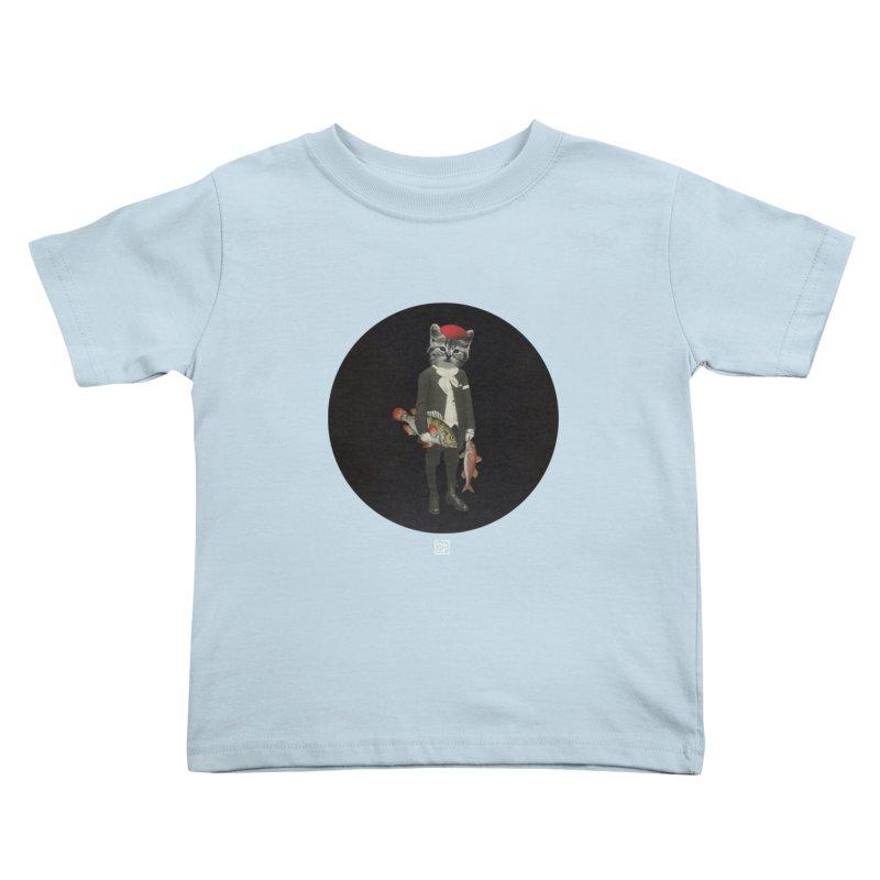 Fishstealer Kids Toddler T-Shirt by sigmablade collage