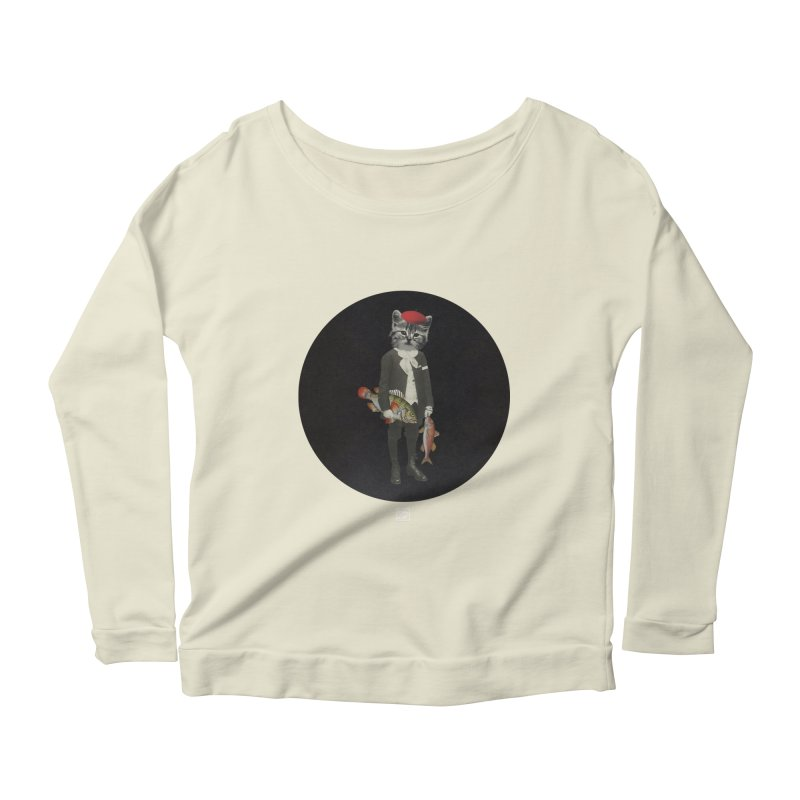 Fishstealer Women's Scoop Neck Longsleeve T-Shirt by sigmablade collage