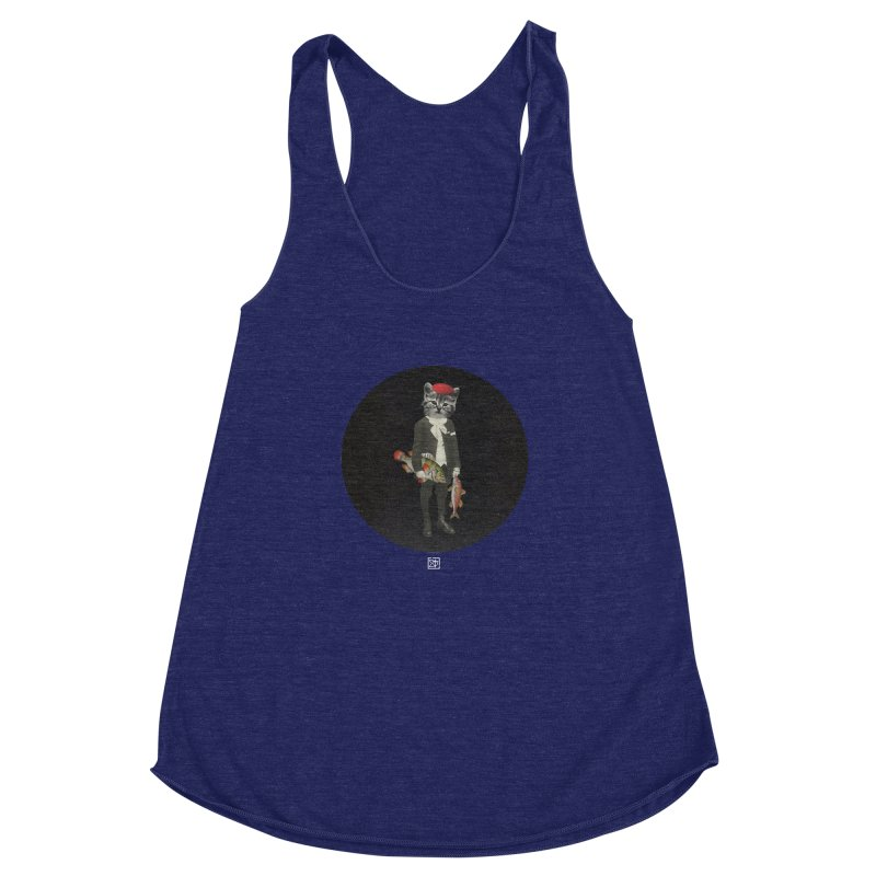 Fishstealer Women's Racerback Triblend Tank by sigmablade collage