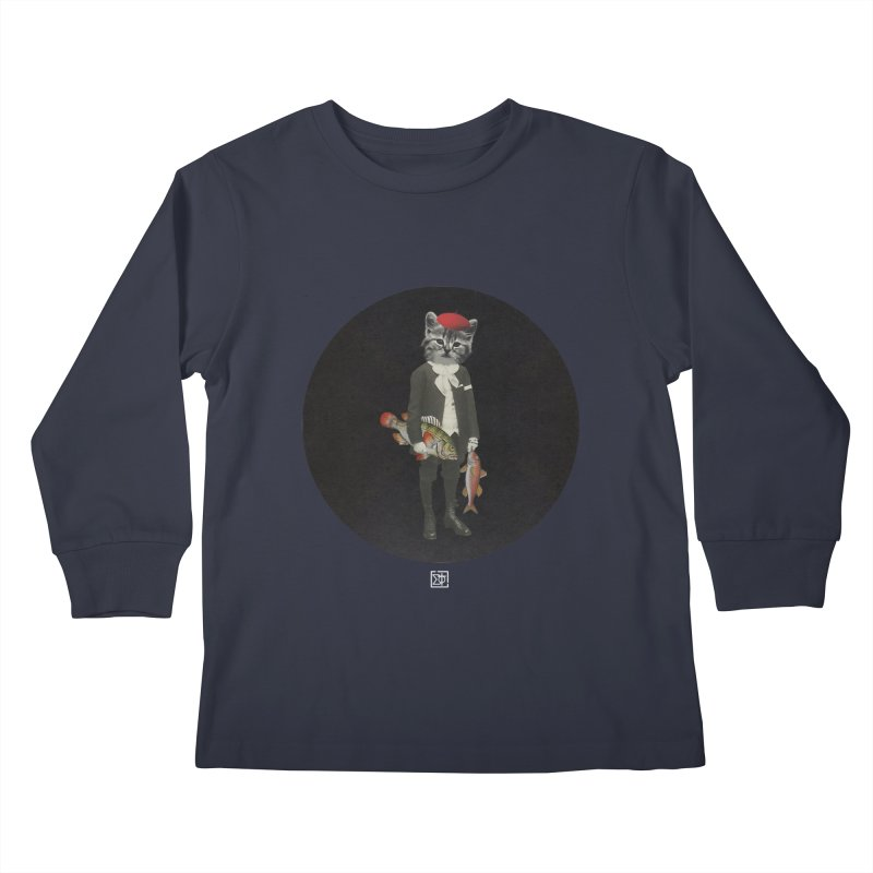 Fishstealer Kids Longsleeve T-Shirt by sigmablade collage