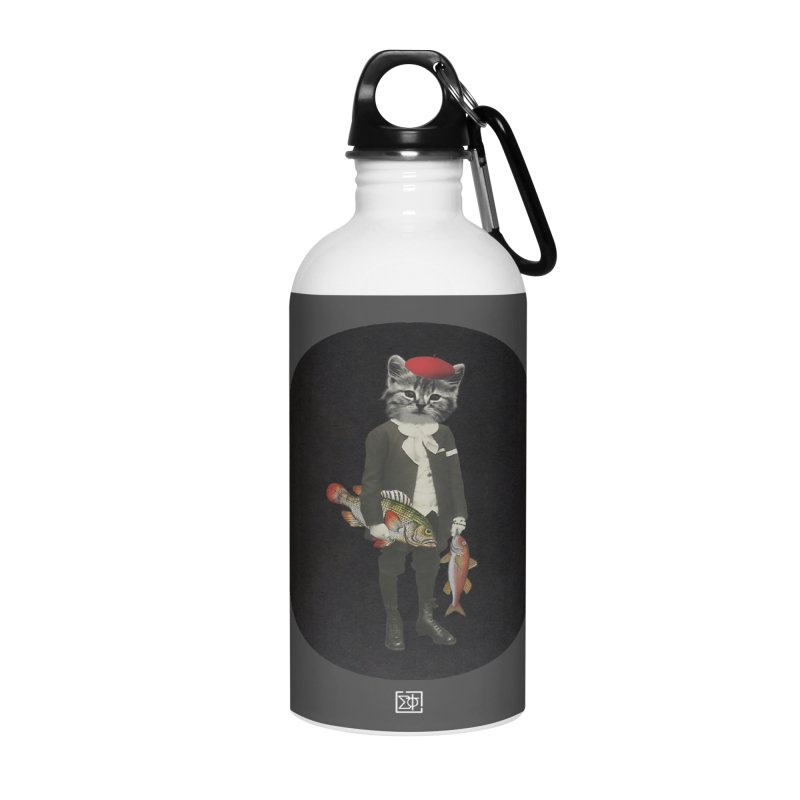 Fishstealer Accessories Water Bottle by sigmablade collage
