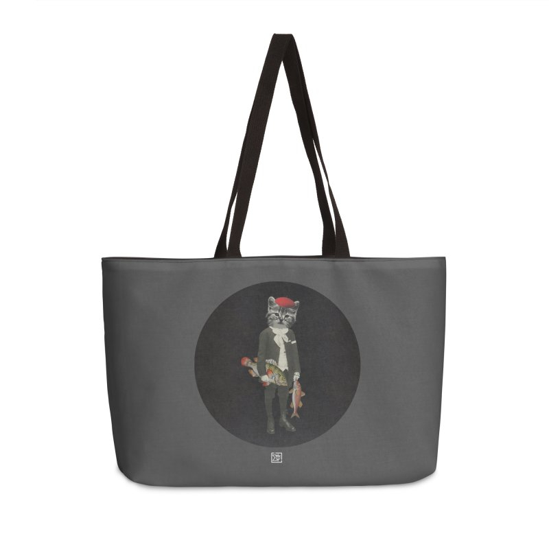 Fishstealer Accessories Weekender Bag Bag by sigmablade collage