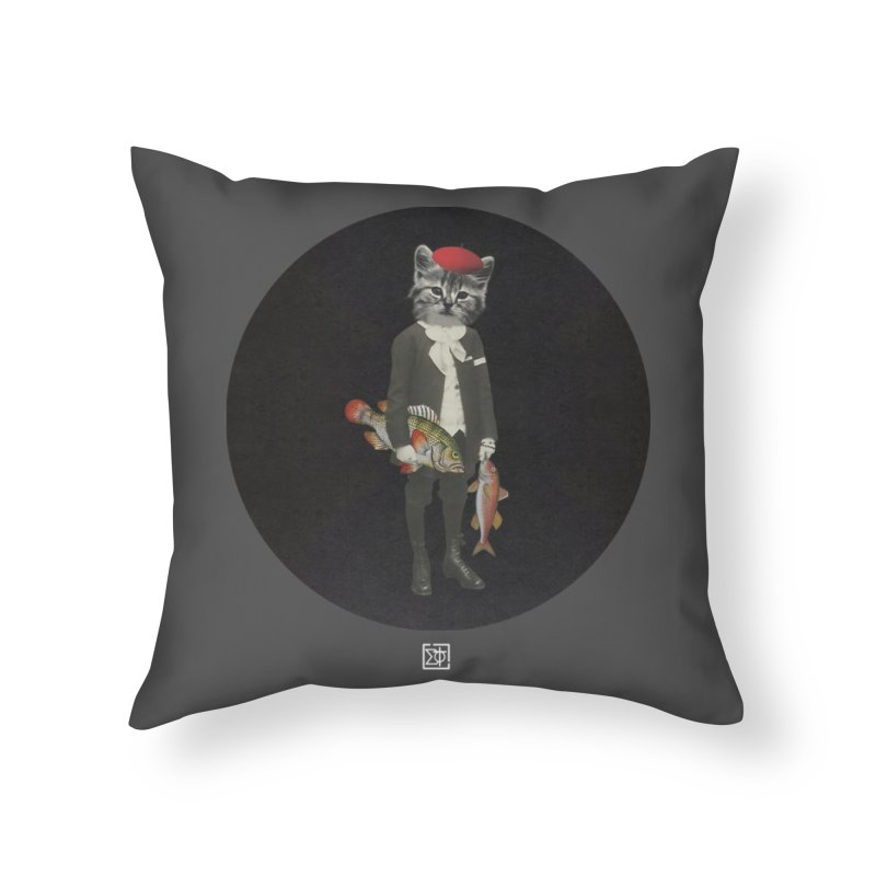 Fishstealer Home Throw Pillow by sigmablade collage
