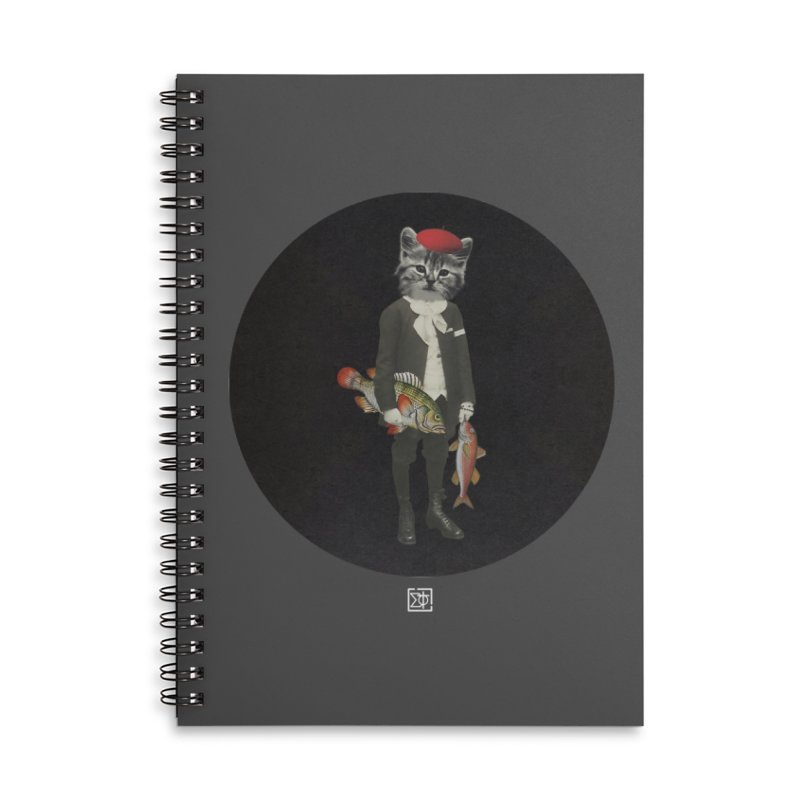 Fishstealer Accessories Lined Spiral Notebook by sigmablade collage