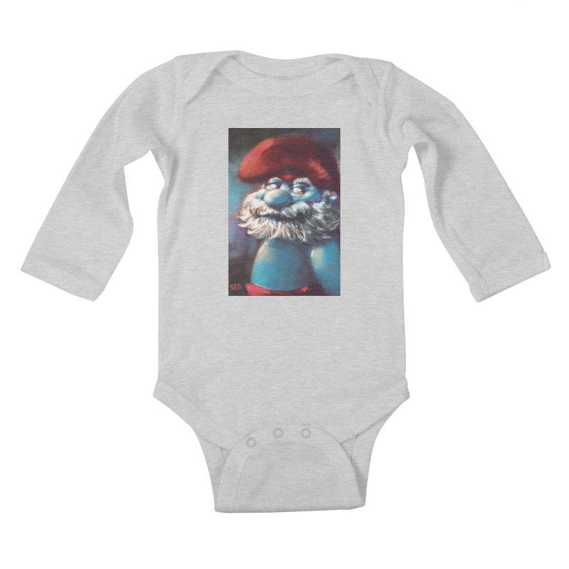 Papa Portrait Kids Baby Longsleeve Bodysuit by Sigmund Torre