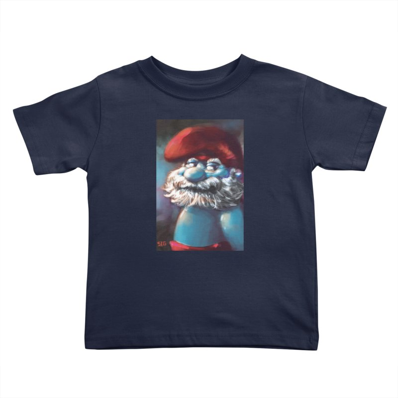 Papa Portrait Kids Toddler T-Shirt by Sigmund Torre