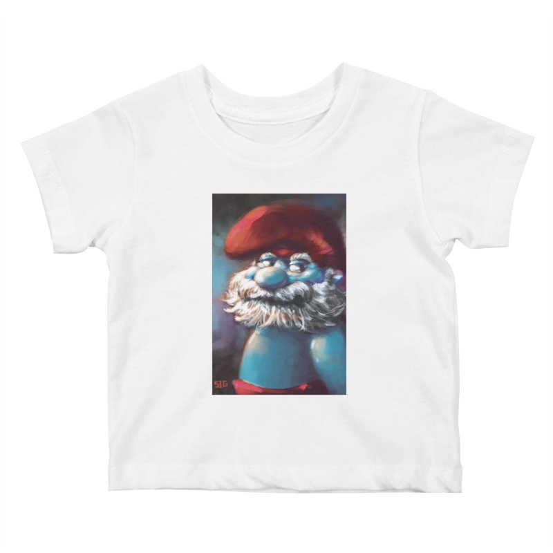 Papa Portrait Kids Baby T-Shirt by Sigmund Torre