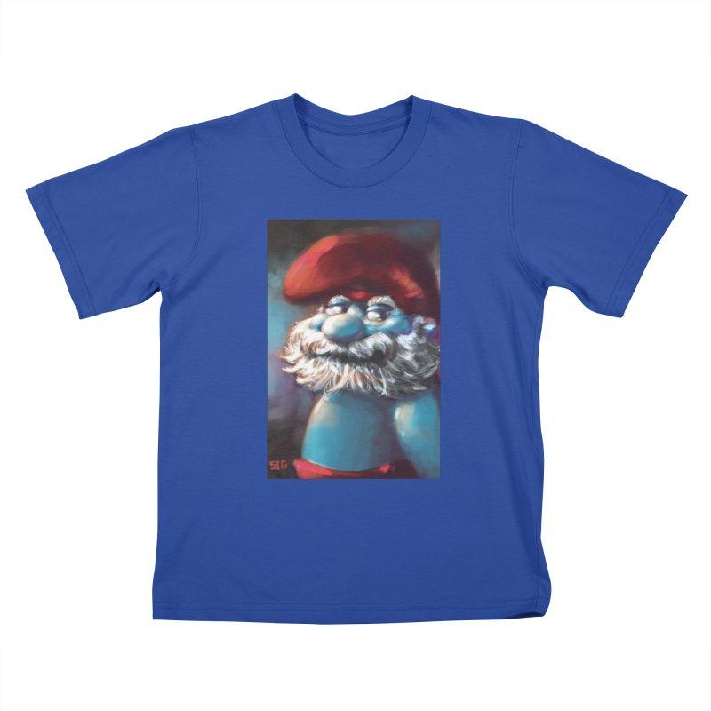 Papa Portrait Kids T-Shirt by Sigmund Torre