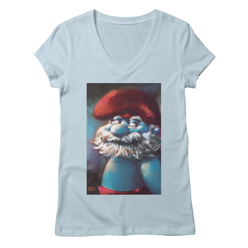 Papa Portrait Women's V-Neck by Sigmund Torre