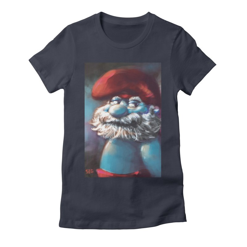 Papa Portrait Women's Fitted T-Shirt by Sigmund Torre