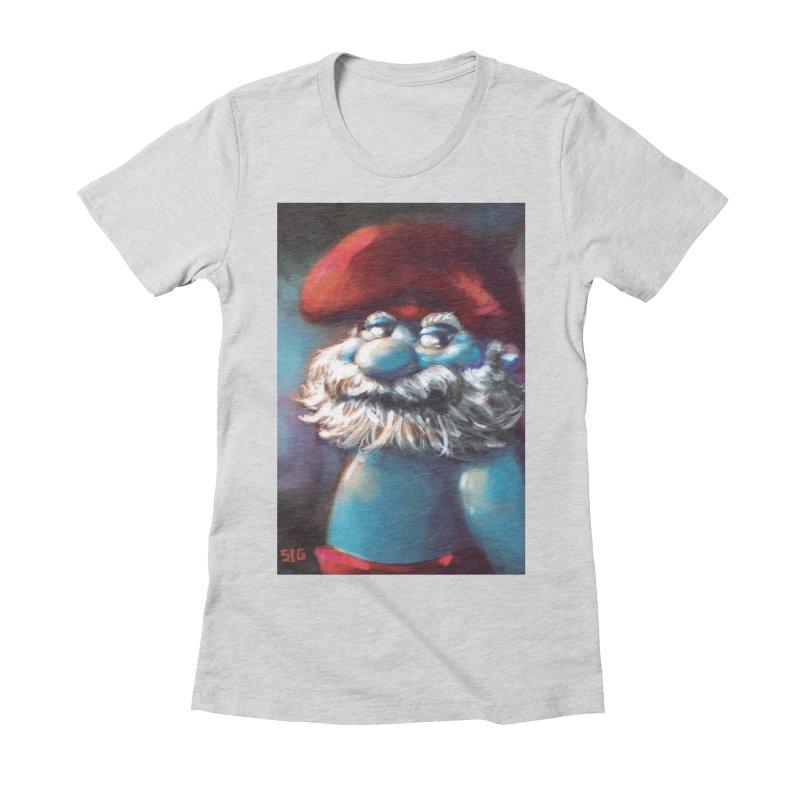 Papa Portrait Women's Fitted T-Shirt by Sigmund Torre
