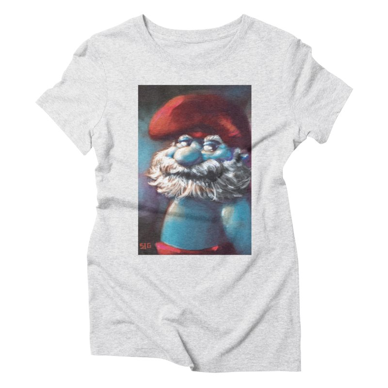 Papa Portrait Women's Triblend T-Shirt by Sigmund Torre