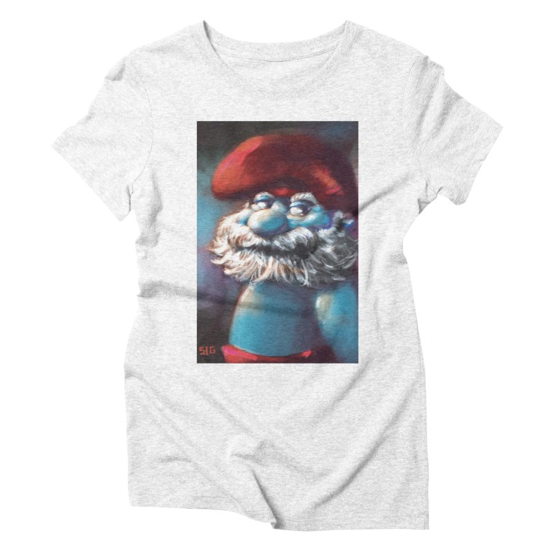 Papa Portrait Women's Triblend T-shirt by Sigmund Torre