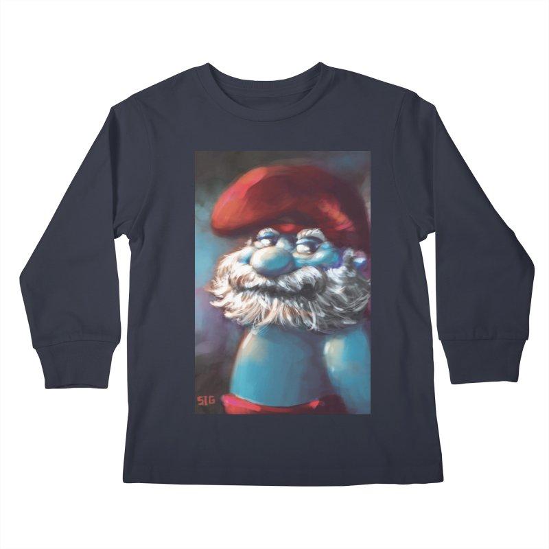 Papa Portrait Kids Longsleeve T-Shirt by Sigmund Torre