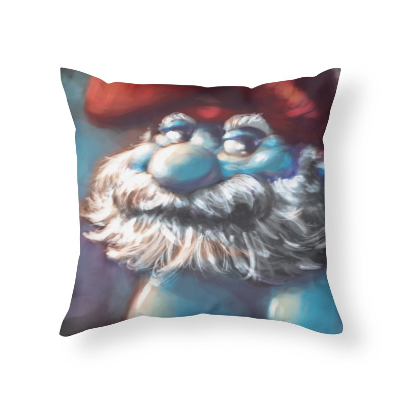 Papa Portrait Home Throw Pillow by Sigmund Torre