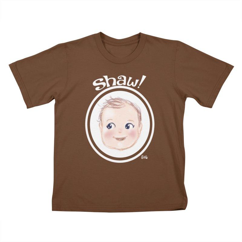 Shaw! Kids T-Shirt by Sigmund Torre