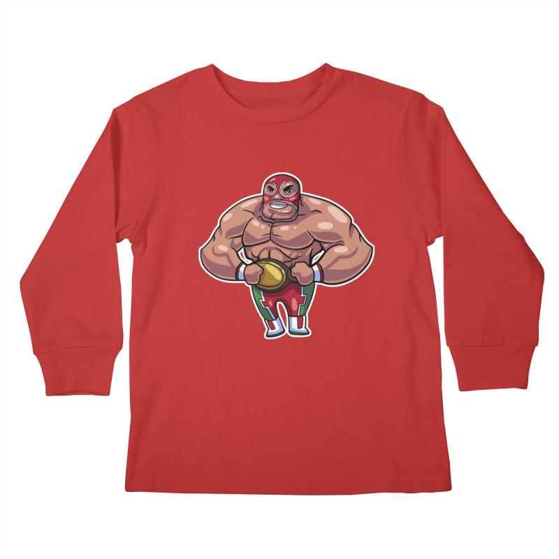 Champ! Kids Longsleeve T-Shirt by Sigmund Torre