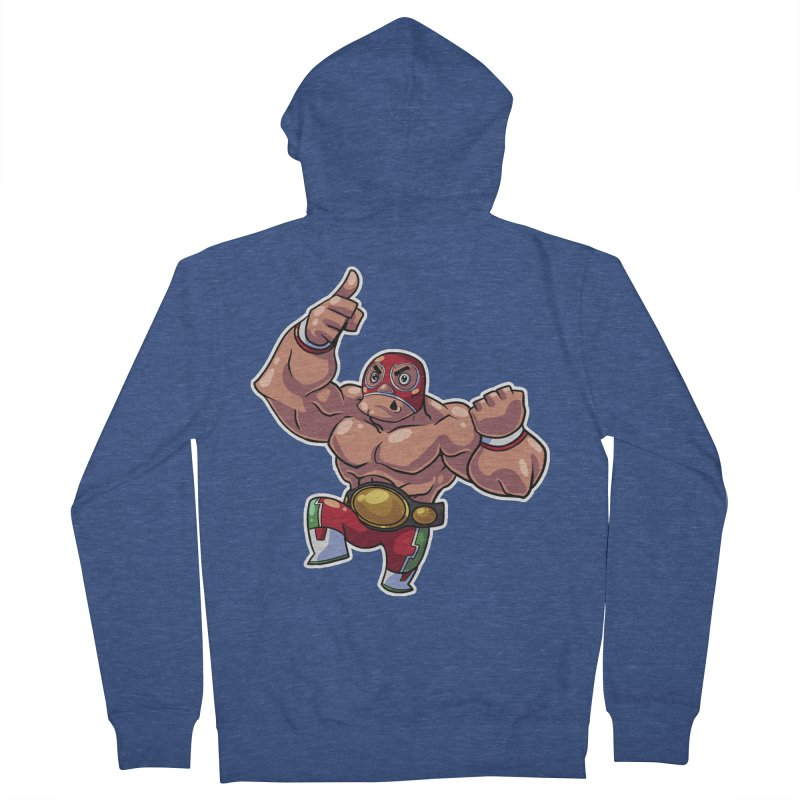 Lucha! Men's French Terry Zip-Up Hoody by Sigmund Torre