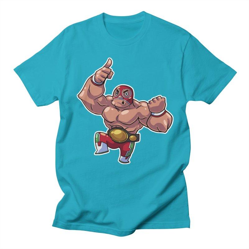 Lucha! Men's Regular T-Shirt by Sigmund Torre