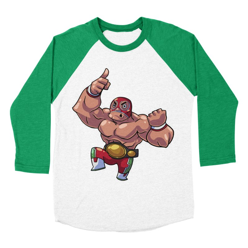 Lucha! Women's Baseball Triblend T-Shirt by Sigmund Torre