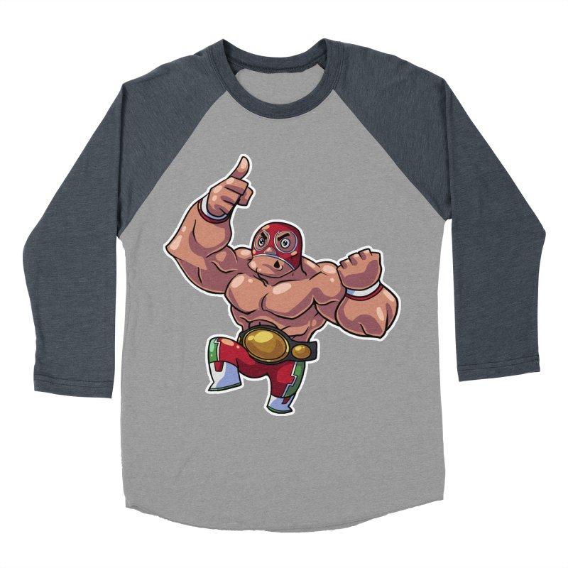 Lucha! Men's Baseball Triblend T-Shirt by Sigmund Torre