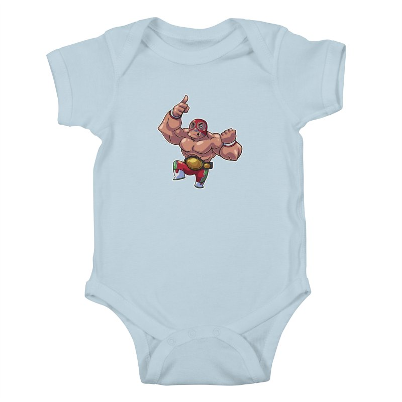 Lucha! Kids Baby Bodysuit by Sigmund Torre