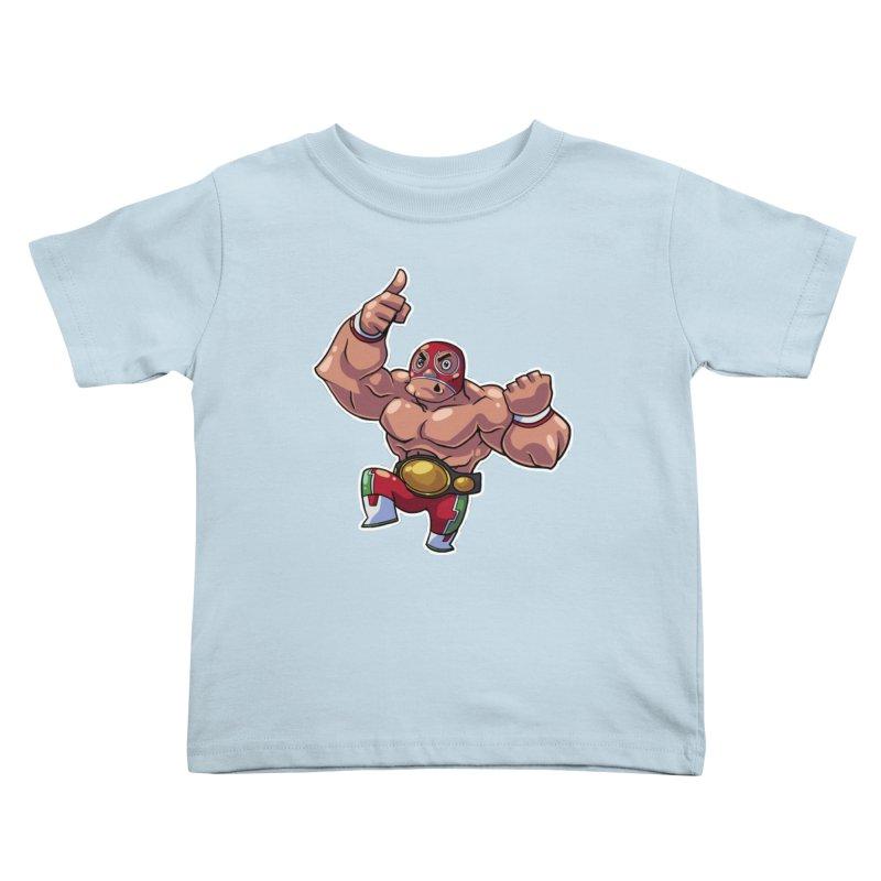 Lucha! Kids Toddler T-Shirt by Sigmund Torre