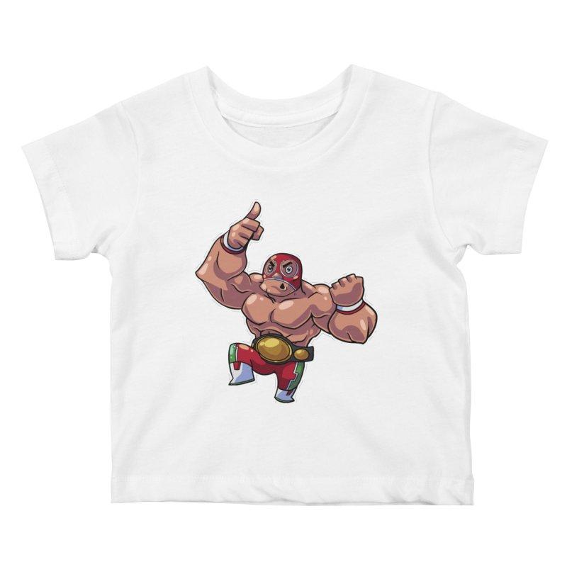 Lucha! Kids Baby T-Shirt by Sigmund Torre