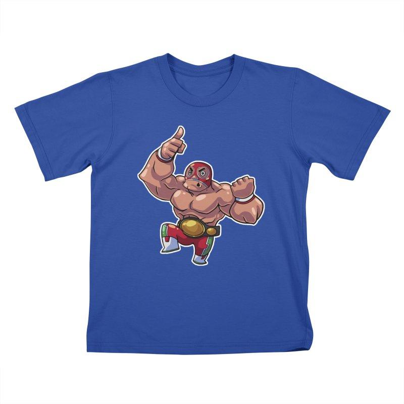 Lucha! Kids T-Shirt by Sigmund Torre