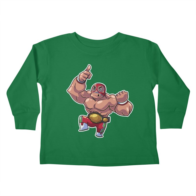 Lucha! Kids Toddler Longsleeve T-Shirt by Sigmund Torre