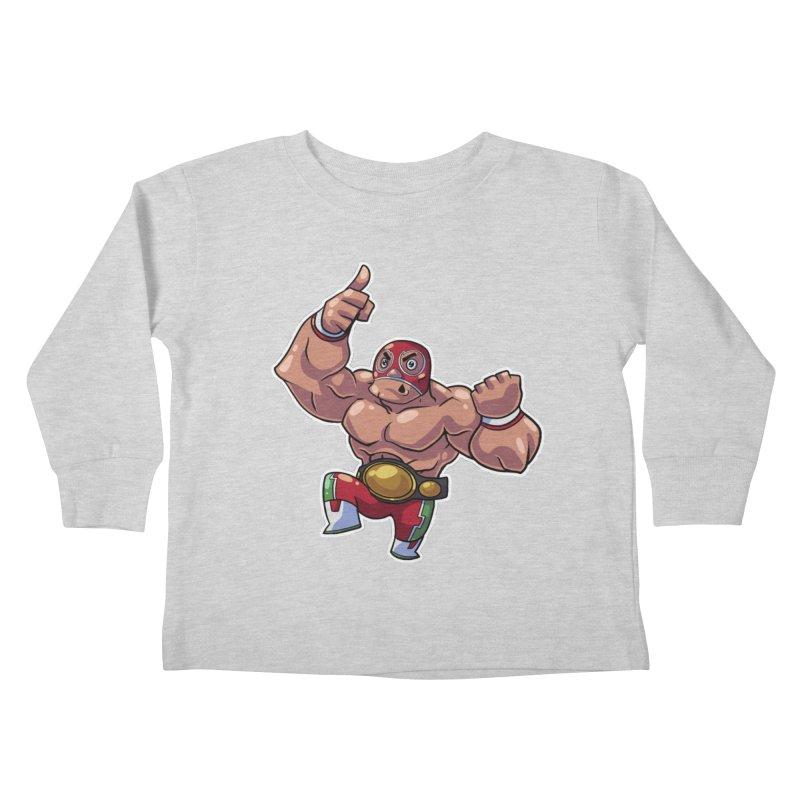 Lucha! Kids Toddler Longsleeve T-Shirt by Sigmund Torre