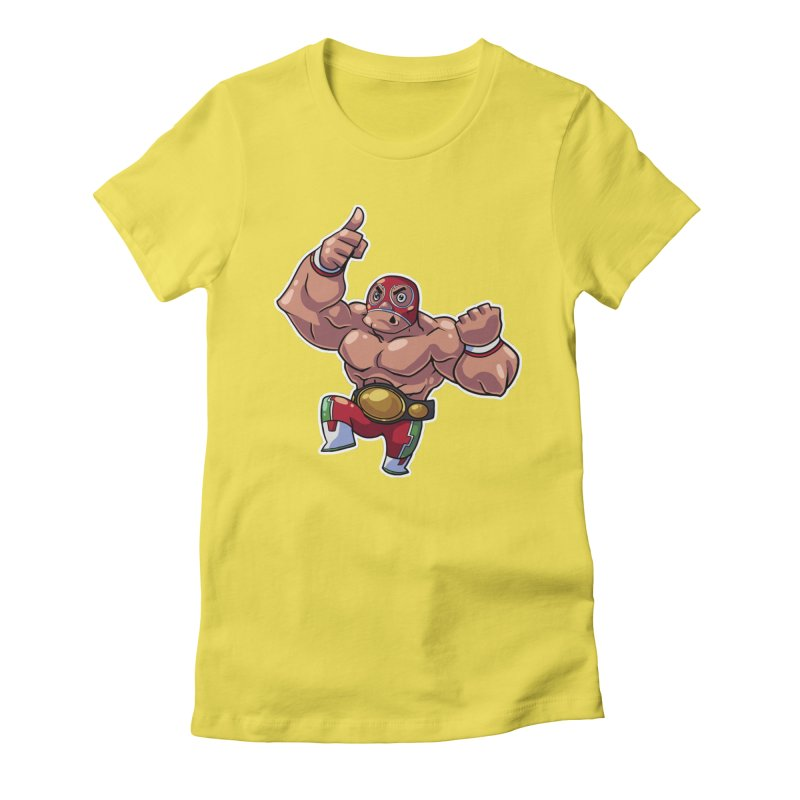 Lucha! Women's Fitted T-Shirt by Sigmund Torre