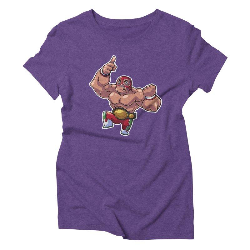 Lucha! Women's Triblend T-Shirt by Sigmund Torre