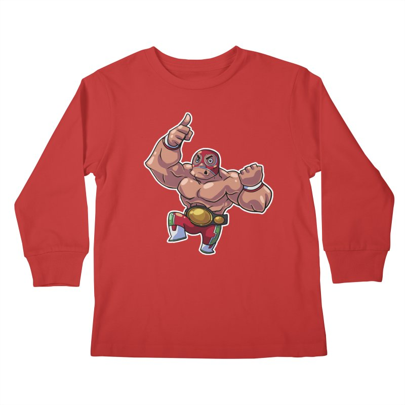 Lucha! Kids Longsleeve T-Shirt by Sigmund Torre