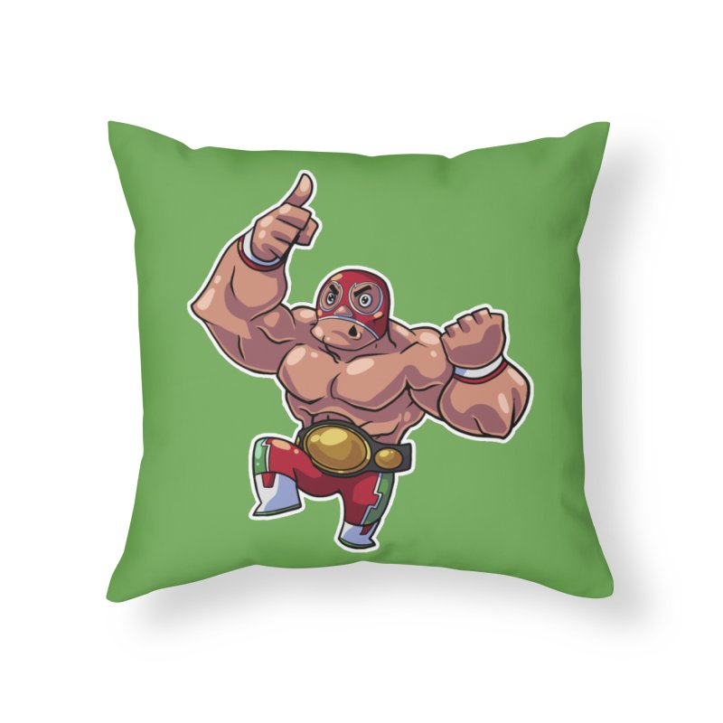 Lucha! Home Throw Pillow by Sigmund Torre