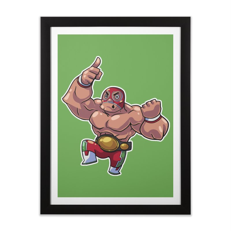 Lucha! Home Framed Fine Art Print by Sigmund Torre