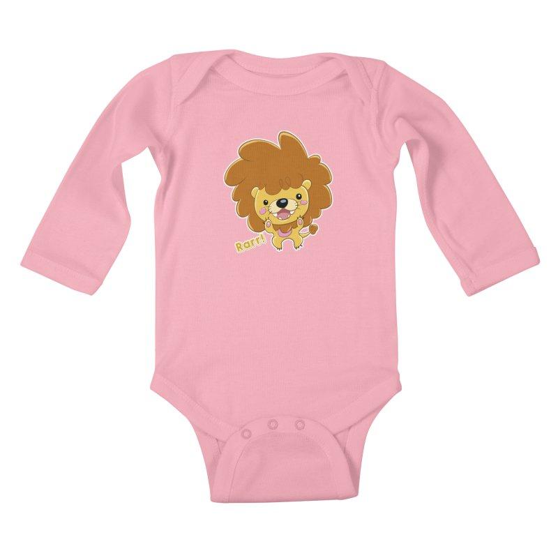 Rarr! Kids Baby Longsleeve Bodysuit by Sigmund Torre