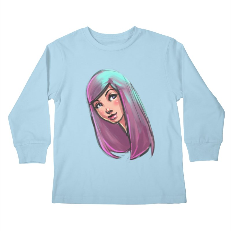 Cute Kids Longsleeve T-Shirt by Sigmund Torre