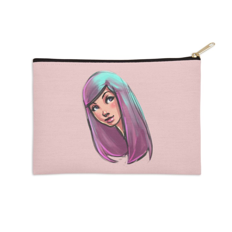 Cute Accessories Zip Pouch by Sigmund Torre