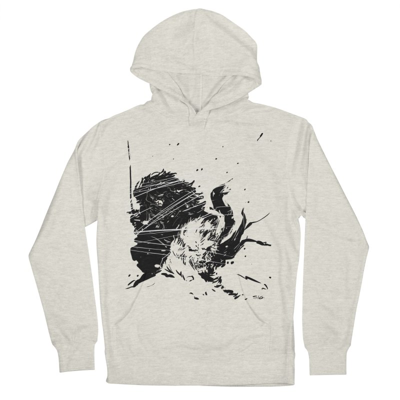 The Crow and the Wolf Men's Pullover Hoody by Sigmund Torre