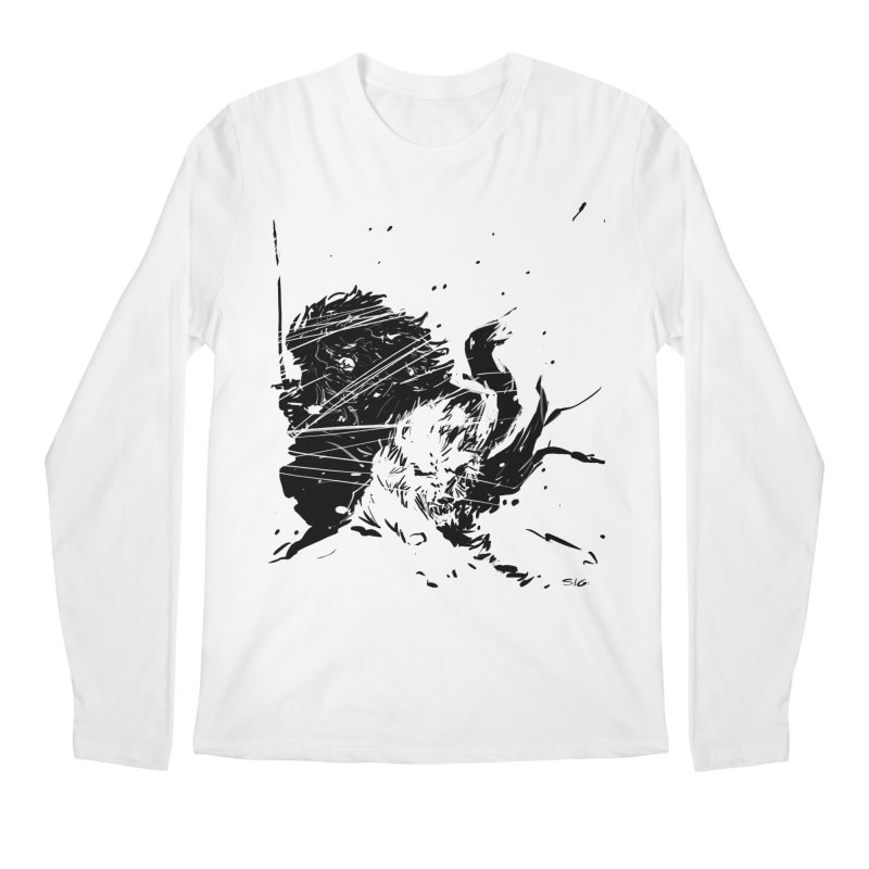 The Crow and the Wolf Men's Longsleeve T-Shirt by Sigmund Torre