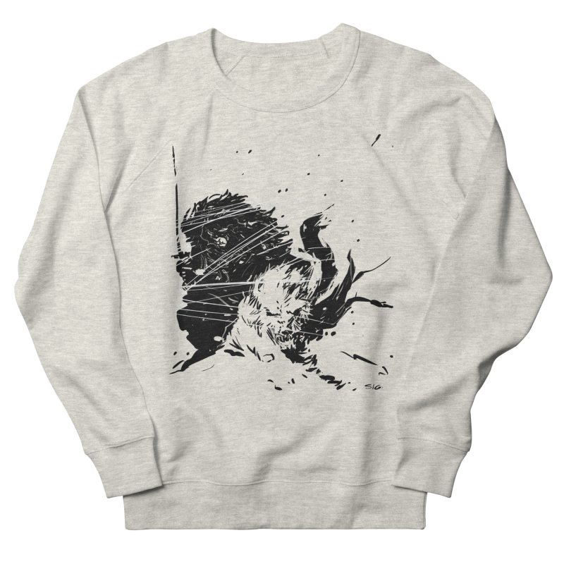The Crow and the Wolf Men's Sweatshirt by Sigmund Torre