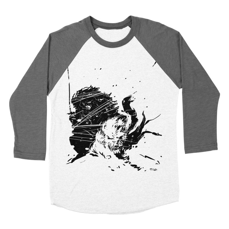 The Crow and the Wolf Men's Baseball Triblend T-Shirt by Sigmund Torre