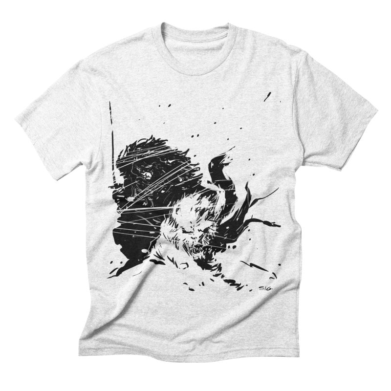 The Crow and the Wolf Men's Triblend T-shirt by Sigmund Torre