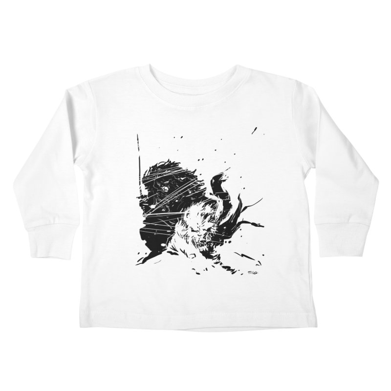 The Crow and the Wolf Kids Toddler Longsleeve T-Shirt by Sigmund Torre